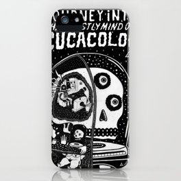 journey in to the ghastly mind of cucacolor iPhone Case