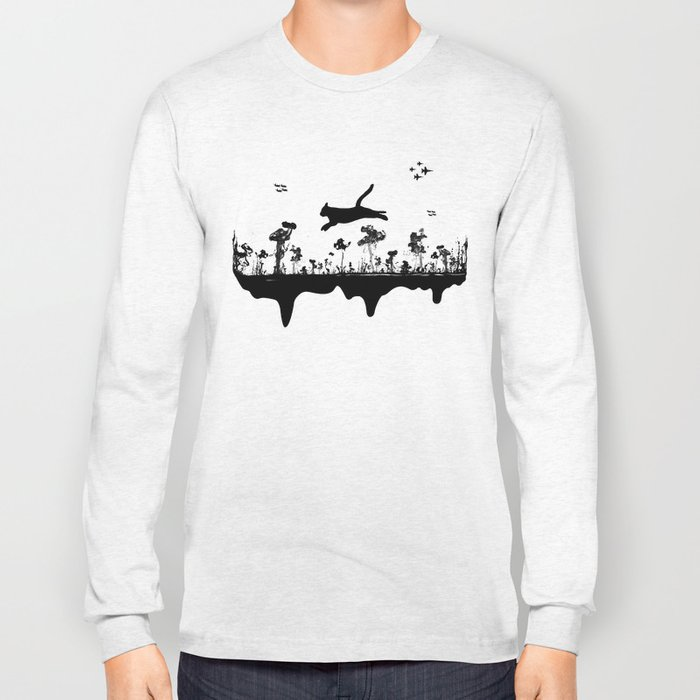 The Cat and Ink drop bombs Long Sleeve T-shirt
