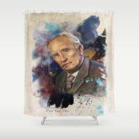 tolkien Shower Curtains featuring J.R.R. Tolkien by Philipe Kling