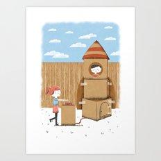 Cardboard Dreams Art Print