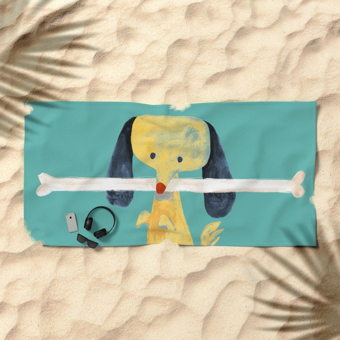 Lucky dog Beach Towel