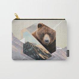 Geometria Espelhada Urso Carry-All Pouch