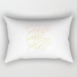 tidy as you go typographic slogan Rectangular Pillow