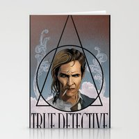 true detective Stationery Cards featuring True Detective by Pop Vulture