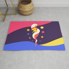 Funky Universe Colorful Lady Rug