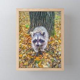 Walking on fallen leaves Framed Mini Art Print