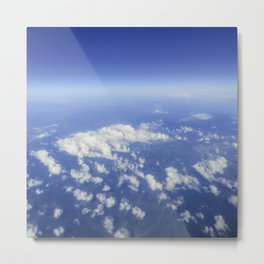 Sky Above the Clouds,Cloudscape background, Blue Sky and Fluffy Clouds Metal Print