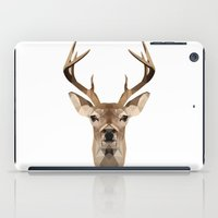 low poly iPad Cases featuring Low Poly Deer by Nick Seils