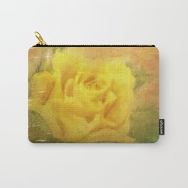 Vintage painting yellow rose Carry-All Pouch