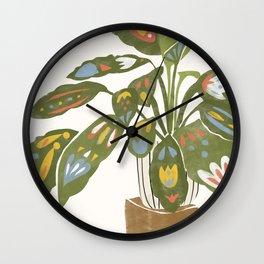 Scandinavian Plant Wall Clock