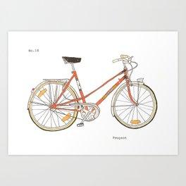 Orange Bike no 16 Art Print
