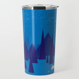 Sleeping in the blue mountains under a blanket of snow Travel Mug