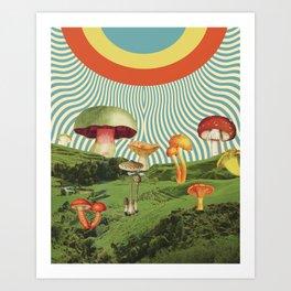 Shroomscape Art Print