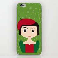 amelie iPhone & iPod Skins featuring Amelie by Creo tu mundo