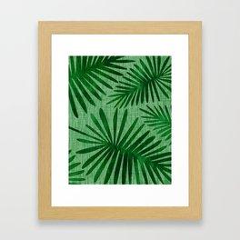 Emerald Retro Nature Print Framed Art Print