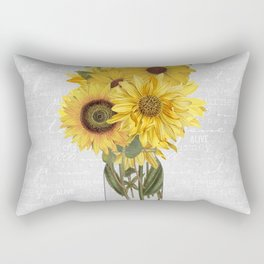 Vintage Sunflower Rectangular Pillow
