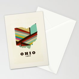 Ohio state map modern Stationery Cards