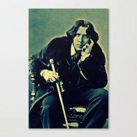 oscar wilde Canvas Prints featuring Oscar Wilde Vintage by Cullen Rawlins