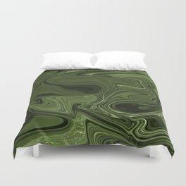 Luminous Green streams of dark and light Duvet Cover