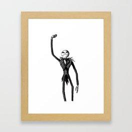 Jack Skellington (Updated) Framed Art Print