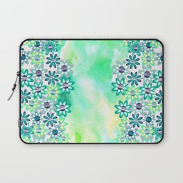 Watercolor and gentle abstract  flowers Laptop Sleeve