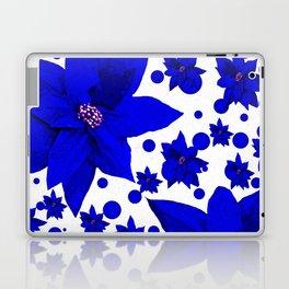 Poinsettia Blue Indigo Pattern Laptop & iPad Skin
