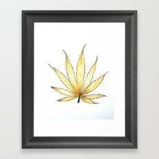 Golden Cannabis Framed Art Print
