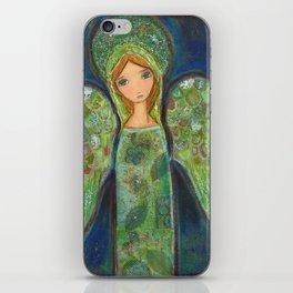 Angel Verde by Flor Larios iPhone Skin