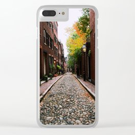 Acorn Street, Boston Clear iPhone Case