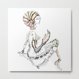 A woman as sign Cancer Metal Print
