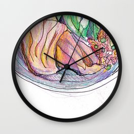 Chicken plate Wall Clock