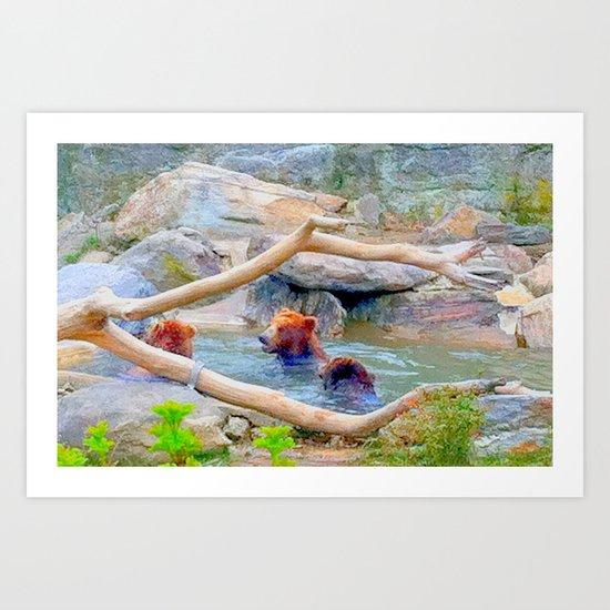 Wild Bears Art Print
