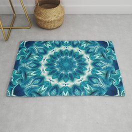 Flower Of Life Mandala (Ocean's Secret) Rug