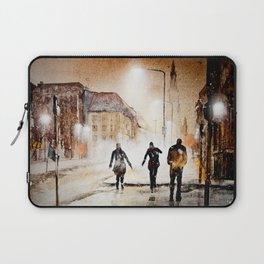 Britain's cold night in warm colors. Laptop Sleeve