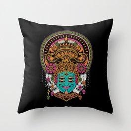 The Mask Dancer Throw Pillow