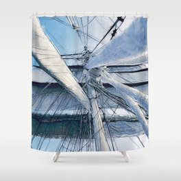 Nautical Sailing Adventure Shower Curtain