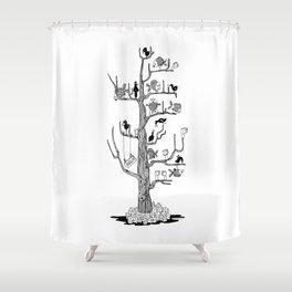 The BahKadisch Tree Shower Curtain