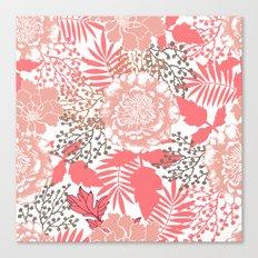Pink peonies. Canvas Print