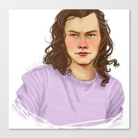 harry Canvas Prints featuring harry by Lois' Art