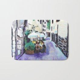 An Italian lunch Bath Mat
