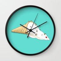 ski Wall Clocks featuring Ant Ski by Lili Batista