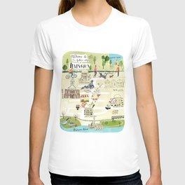 Irvington NY Map T-shirt