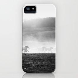 Horse Run in the Dust iPhone Case