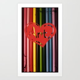 I love Art! Art Print