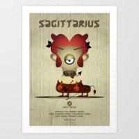sagittarius Art Prints featuring SAGITTARIUS by Angelo Cerantola