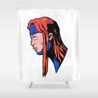 xmen Shower Curtains featuring x9 by jason st paul