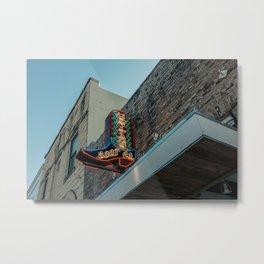 Boot Shop Neon Sign Metal Print