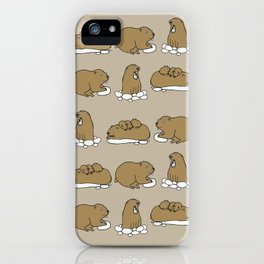 Family marmots iPhone Case
