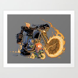 Ghost Rider and Son Art Print