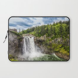 Snoqualmie Falls and Lodge in Summer Laptop Sleeve